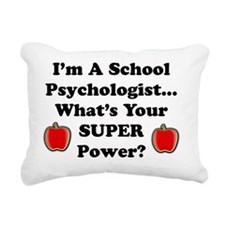 I teach psychologist Rectangular Canvas Pillow