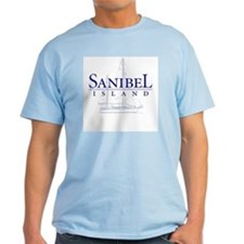 Sanibel Sailboat - Ash Grey T-Shirt
