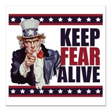 "Uncle-Sam---Keep-Fear-Al Square Car Magnet 3"" x 3"""