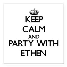 Keep Calm and Party with Ethen Square Car Magnet 3