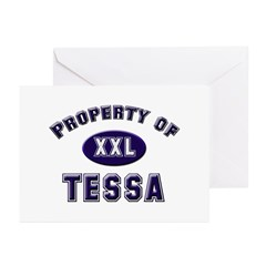 Property of tessa Greeting Cards (Pk of 10)