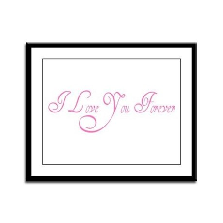 I Love You Forever Framed Panel Print