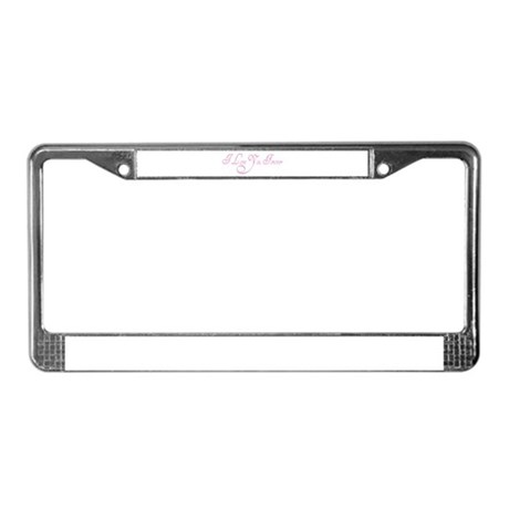 I Love You Forever License Plate Frame