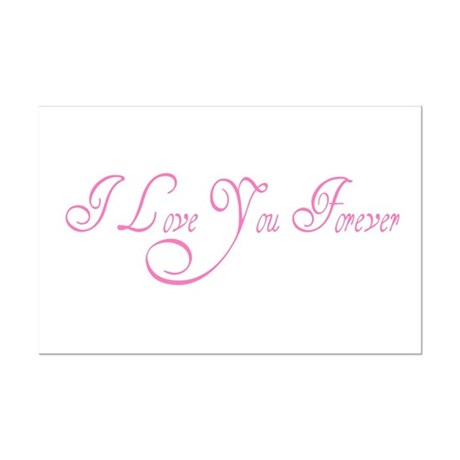 I Love You Forever Mini Poster Print