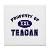 Property of teagan Tile Coaster