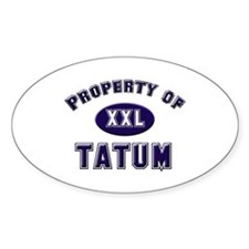 Property of tatum Oval Decal