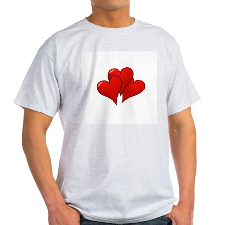 Three Hearts Ash Grey T-Shirt