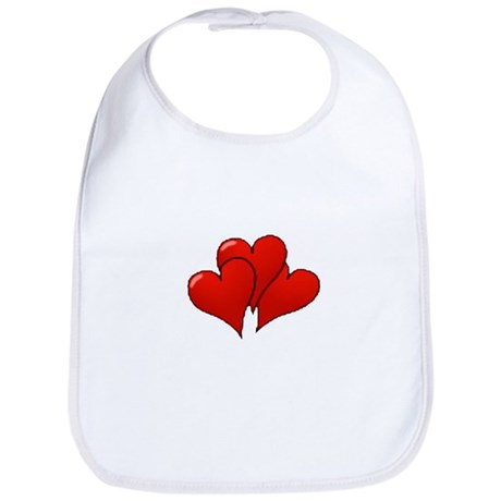 Three Hearts Bib