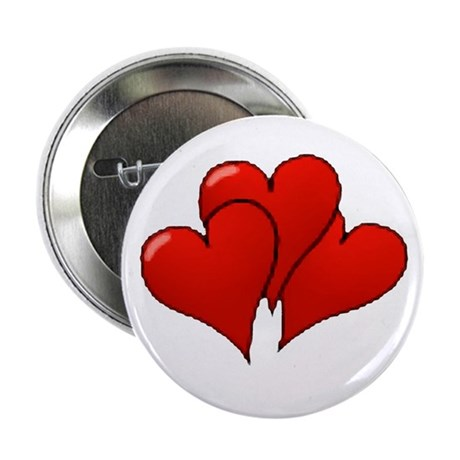 Three Hearts Button