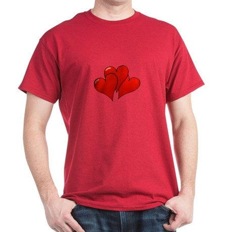Three Hearts Dark T-Shirt