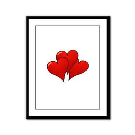 Three Hearts Framed Panel Print