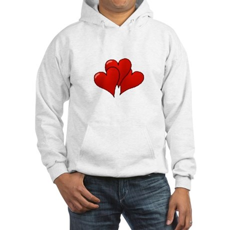 Three Hearts Hooded Sweatshirt