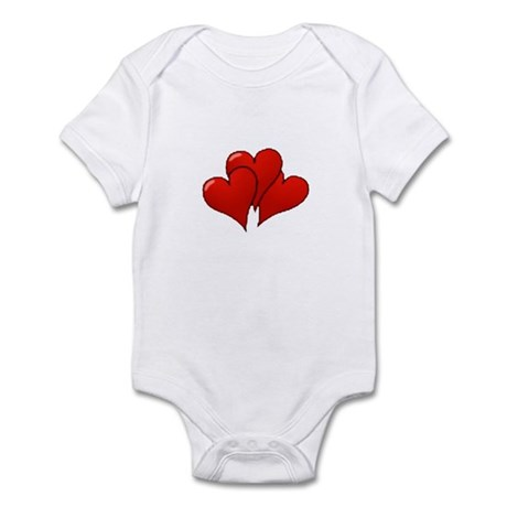Three Hearts Infant Bodysuit