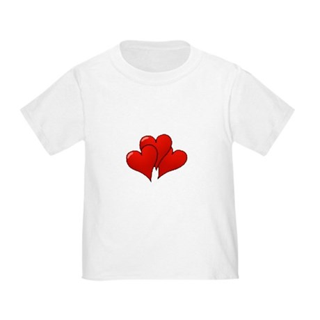 Three Hearts Toddler T-Shirt