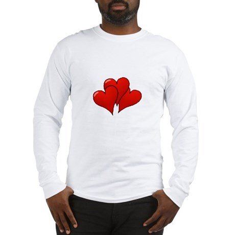 Three Hearts Long Sleeve T-Shirt