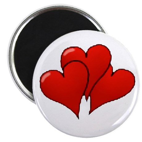 "Three Hearts 2.25"" Magnet (100 pack)"