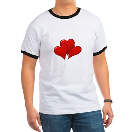 Three Hearts Ringer T