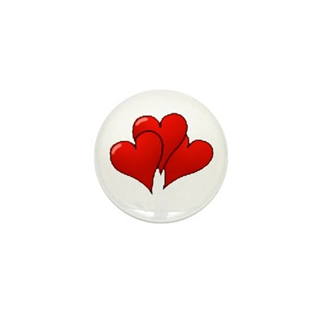 Three Hearts Mini Button