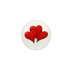 Three Hearts Mini Button (100 pack)