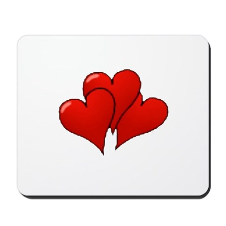 Three Hearts Mousepad