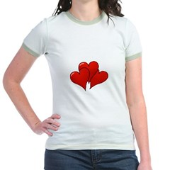 Three Hearts Jr. Ringer T-Shirt