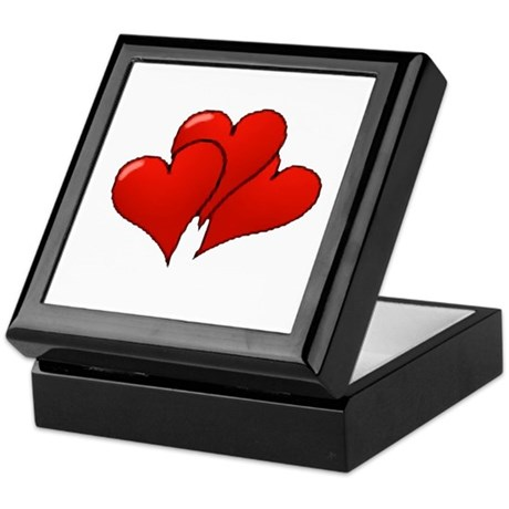 Three Hearts Keepsake Box