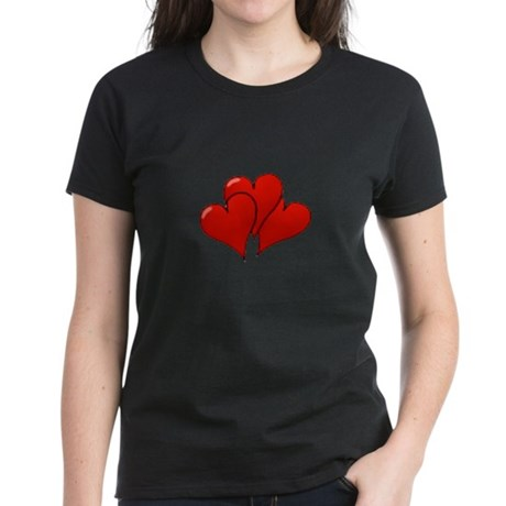 Three Hearts Women's Dark T-Shirt