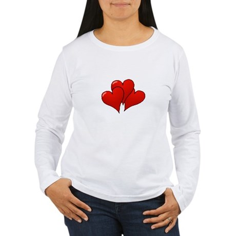 Three Hearts Women's Long Sleeve T-Shirt