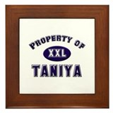 Property of taniya Framed Tile