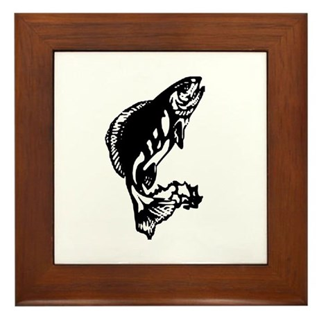 Fishing Framed Tile