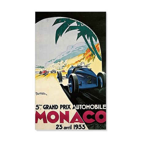 Monaco 5th Grand Prix Automobile  35x21 Wall Decal