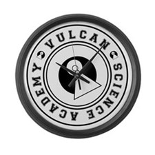 vulcanscienceacademy01 Large Wall Clock