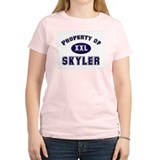 Property of skyler Women's Pink T-Shirt