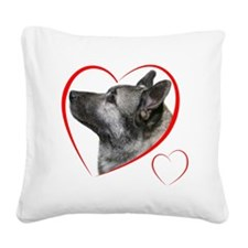 ElkhoundLovePlain Square Canvas Pillow
