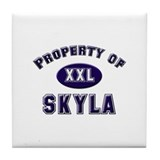 Property of skyla Tile Coaster