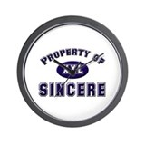 Property of sincere Wall Clock