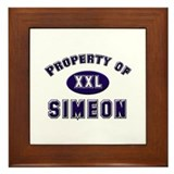 Property of simeon Framed Tile