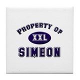 Property of simeon Tile Coaster