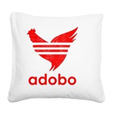 adob-red Square Canvas Pillow