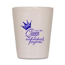 QueenUnfinishedBlue Shot Glass