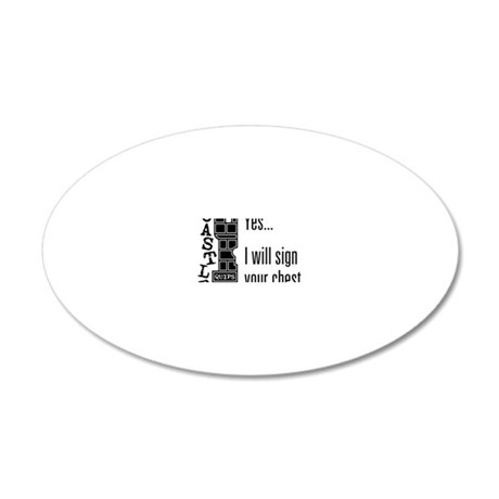 Quips_SignChest_light-crop 20x12 Oval Wall Decal