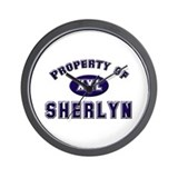 Property of sherlyn Wall Clock