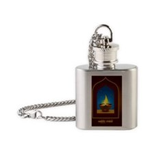 diwali_greetings Flask Necklace