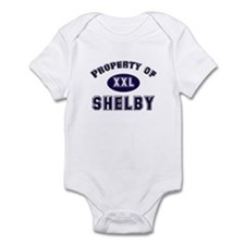 Property of shelby Infant Bodysuit