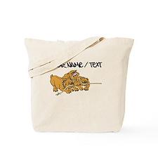 Bulldog Tug Of War Tote Bag