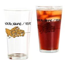 Bulldog Tug Of War Drinking Glass