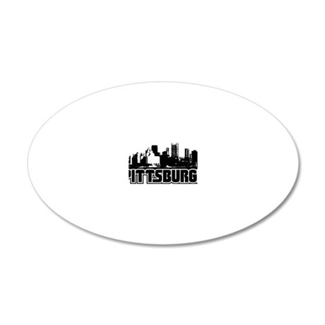 Pittsburgh Skyline 20x12 Oval Wall Decal