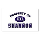 Property of shannon Rectangle Decal