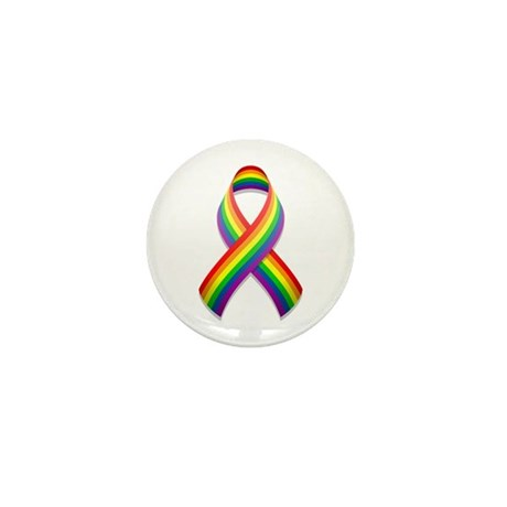 Rainbow Pride Ribbon Mini Button (100 pack)