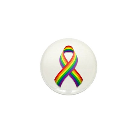 Rainbow Pride Ribbon Mini Button